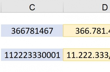 Cálculo dos Digitos Verificadores para CPF e CNPJ no MS Excel